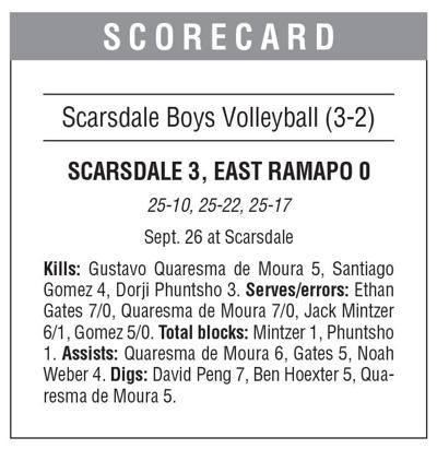 Scarsdale boys volleyball boxscore 10/4 issue