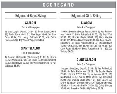 Edgemont ski boxscore 2/14 issue