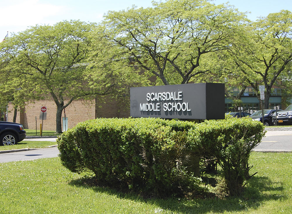 Scarsdale Middle School sign