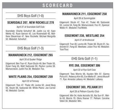 SHS EHS boys girls golf box 4/30 issue