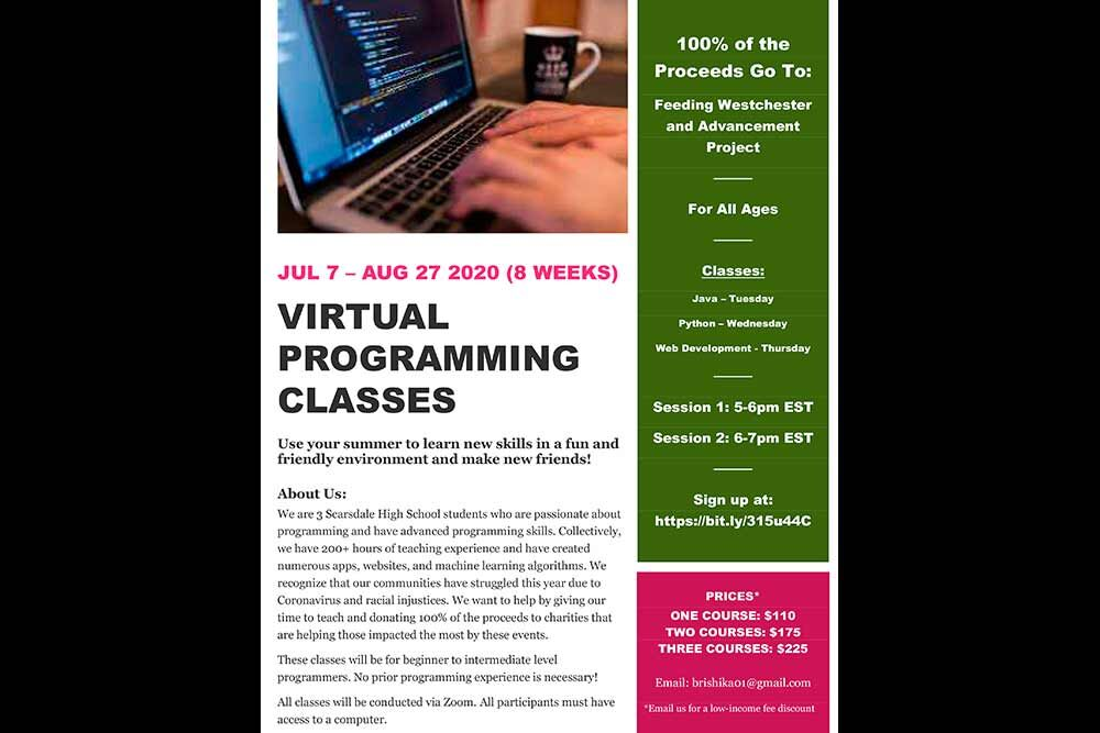 Microsoft Word - Summer Programming Classes Poster.docx