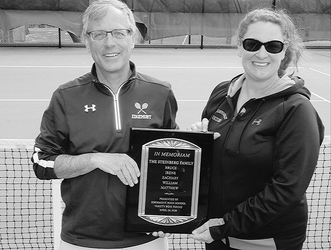 Tennis honors Steinbergs