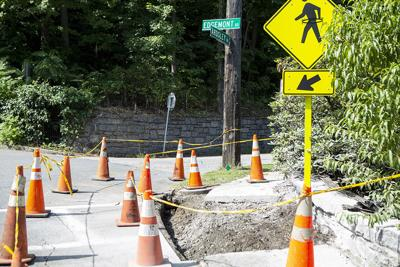 Crosswalk at Ardsley, Edgemont roads nearly completed