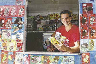 Manny Kolokathis ice cream photo