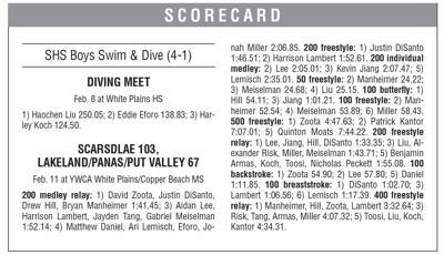 SHS swim dive box 2/19 issue