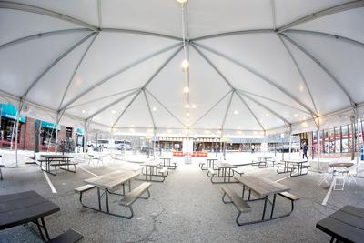 Dine the Dale tent