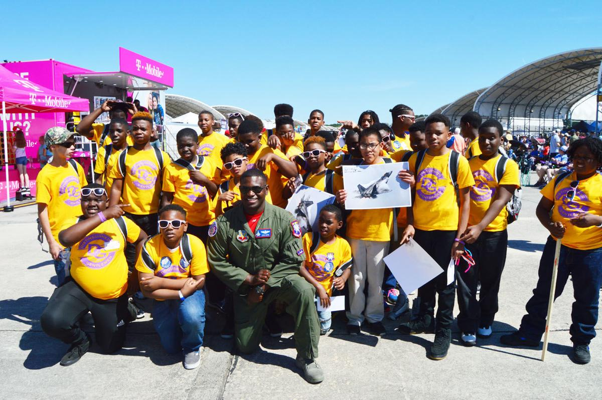 Palmetto Middle School's Distinguished Gentlemen Initiative visits Marine Corps Air Station Airshow