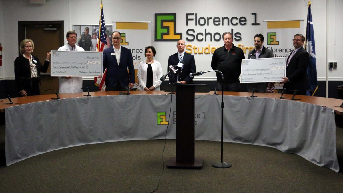 Florence One Schools Donation to COVID-19 Emergency Funds