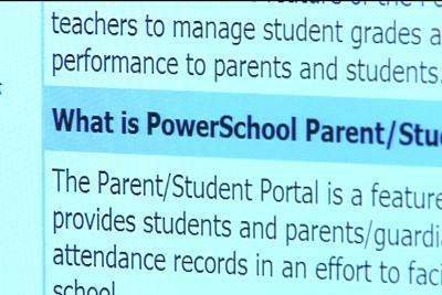 A PowerSchool demo on the portal's webpage