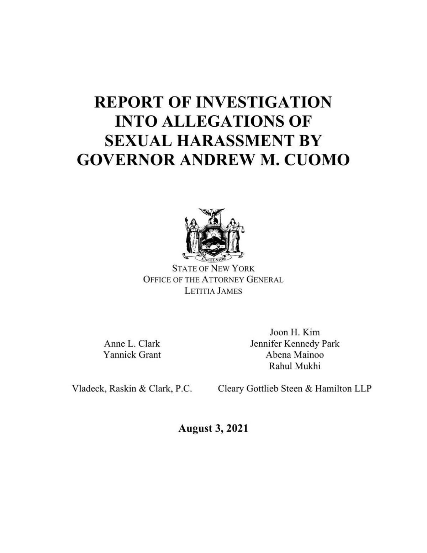 NY AG Cuomo report