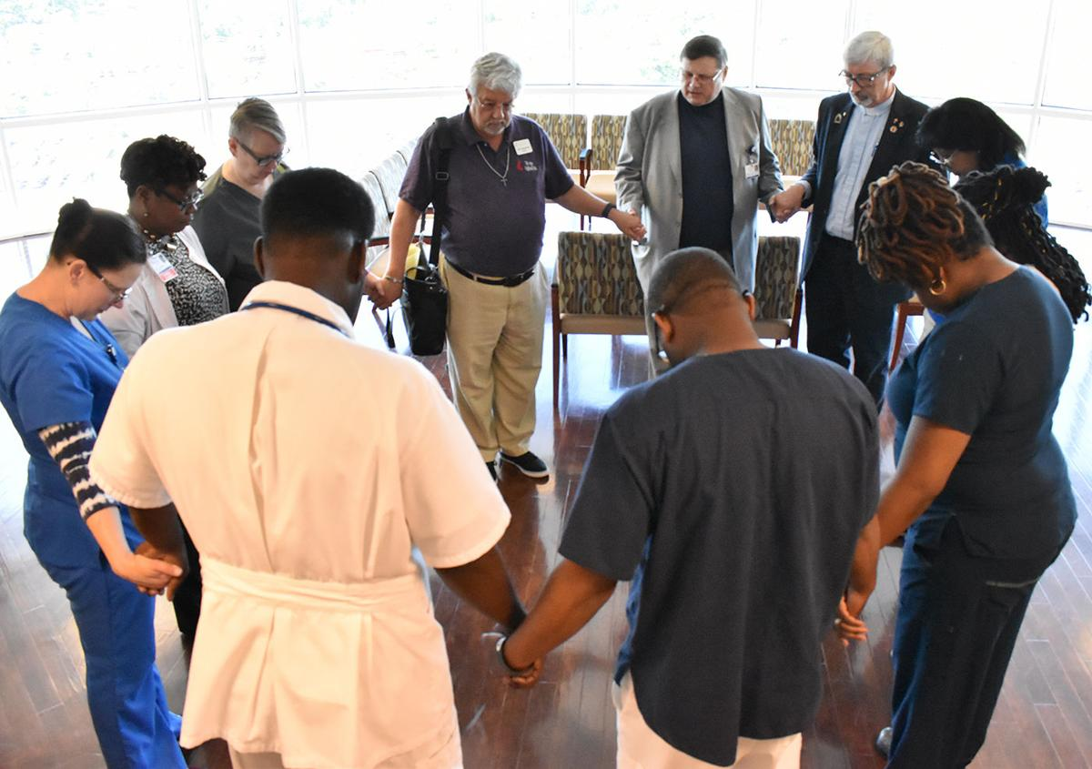 Nurses' hands blessed at MUSC Health-Florence Medical Center