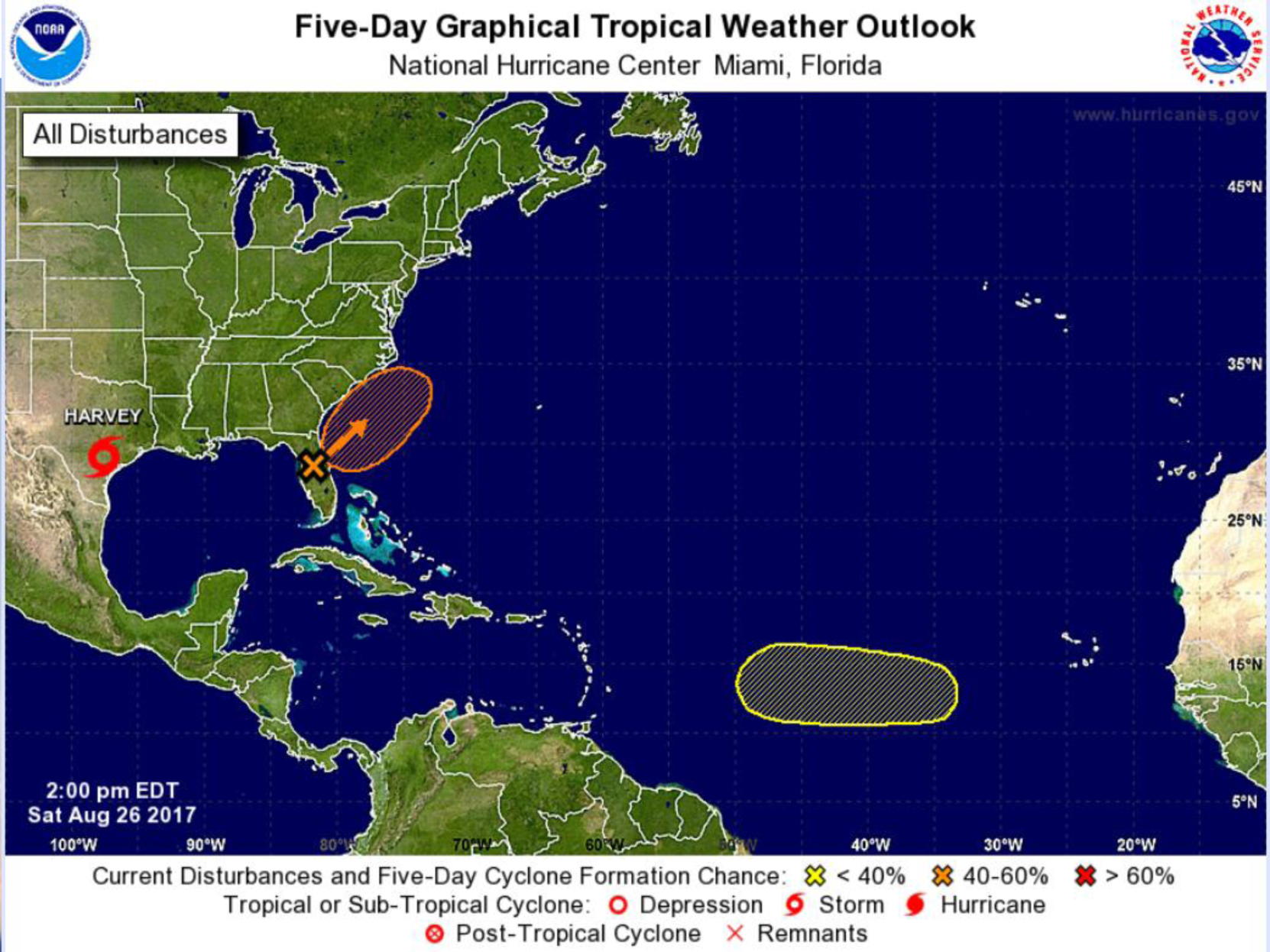 Weather system could turn tropical off Carolinas coast