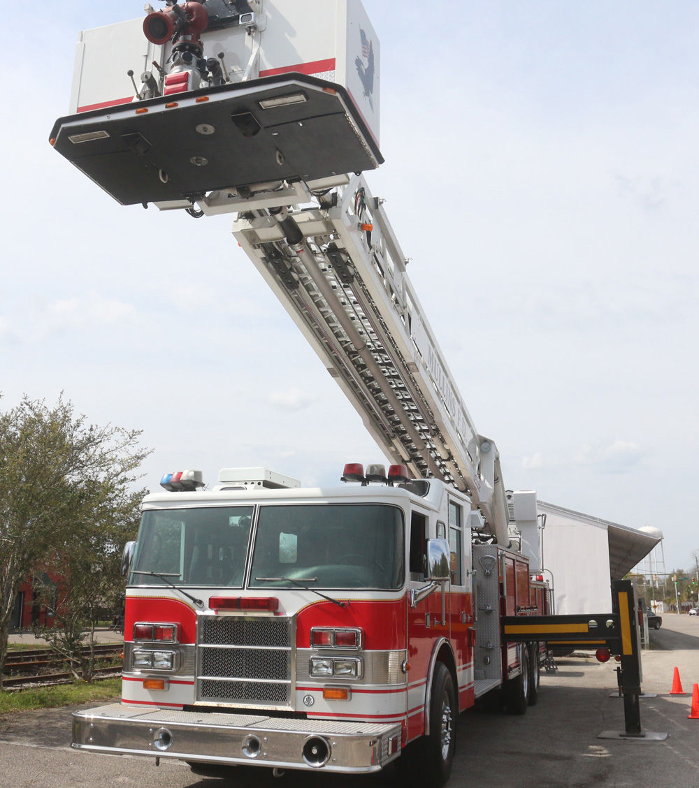 Mullins Fire Department houses first ladder truck