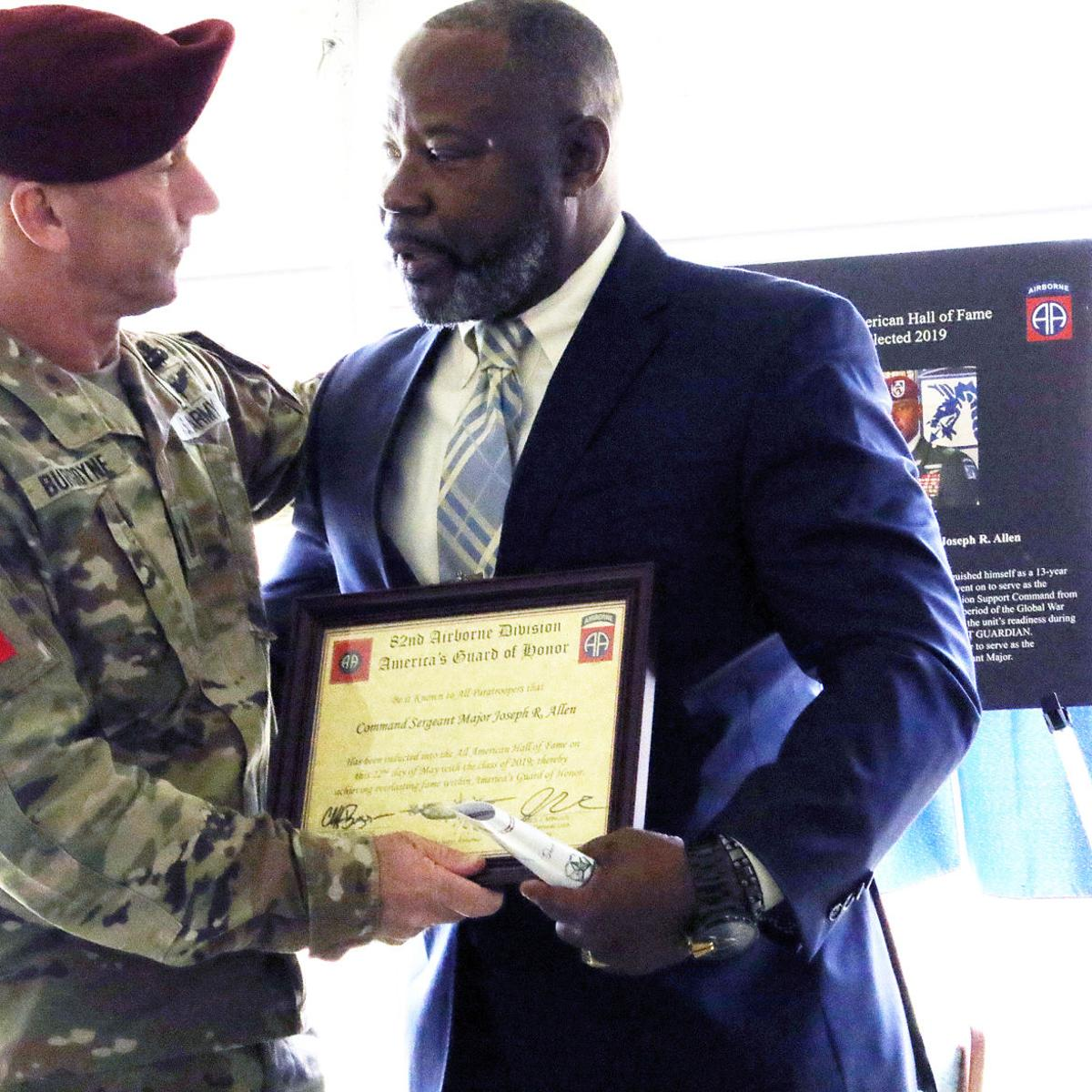 Timmonsville's Allen inducted into 82nd Airborne Division Hall of