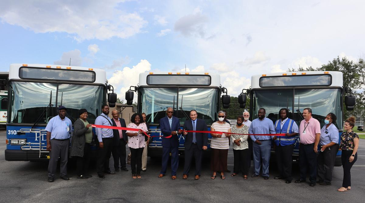 PDRTA launches three new buses with a ribbon cutting