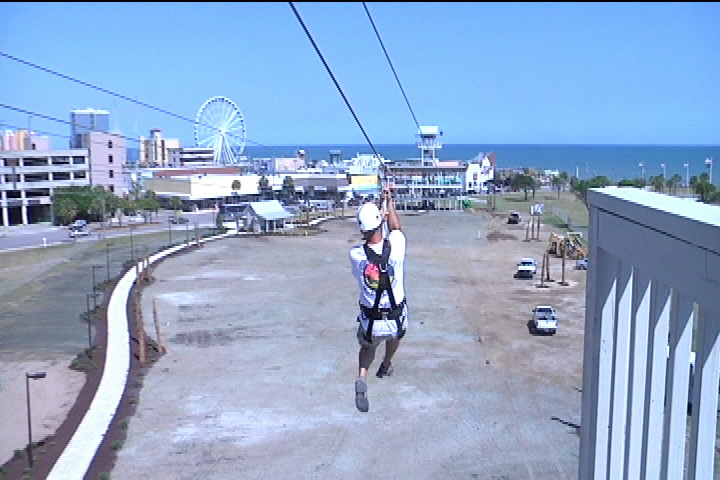 Zipline Opens This Week At Old Myrtle Beach Pavilion Site Local News Scnow
