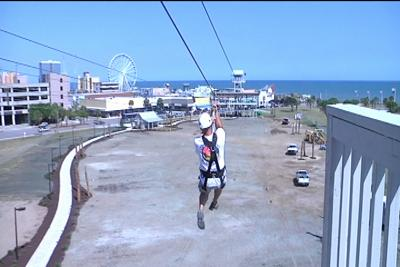 Zipline Opens This Week At Old Myrtle Beach Pavilion Site