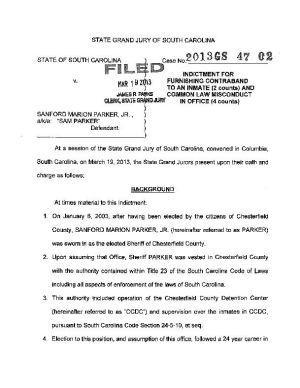 Sheriff Parker Indictment | | scnow com