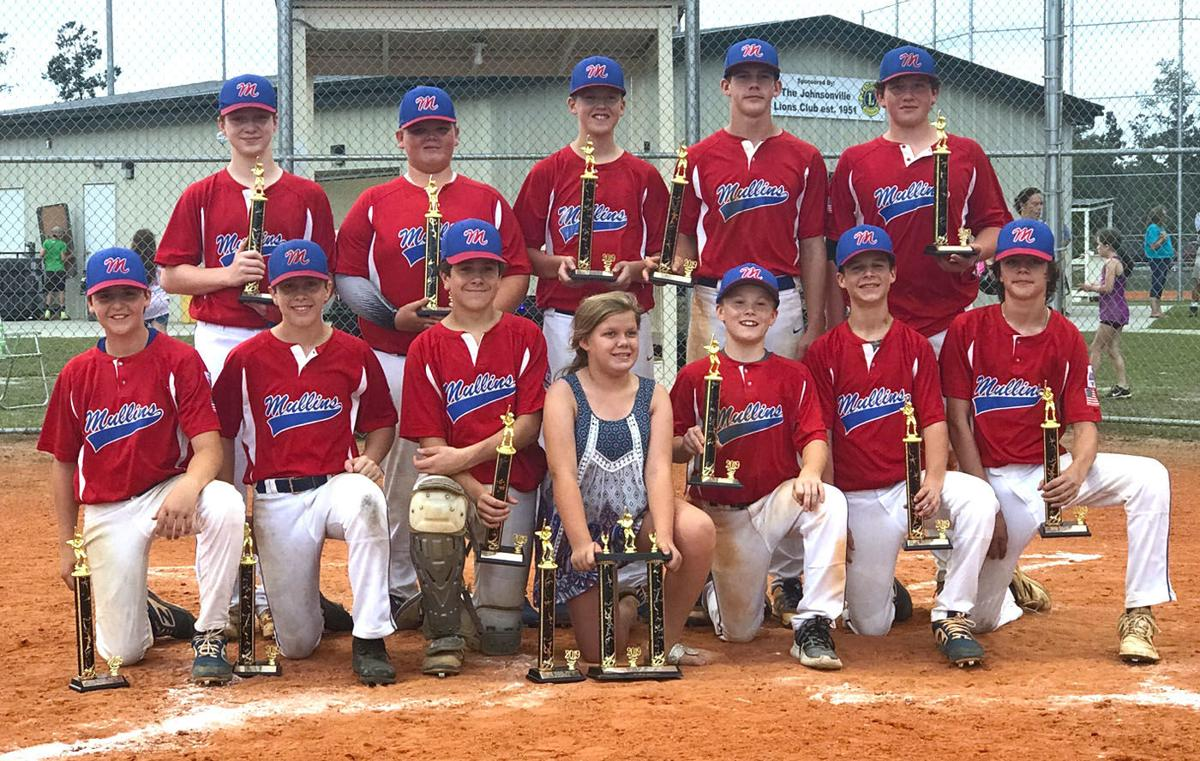 Mullins all star baseball teams win district championships
