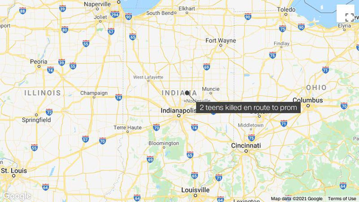 2 high school students were killed in a car crash on their way to prom