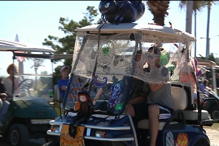 halloween golf carts