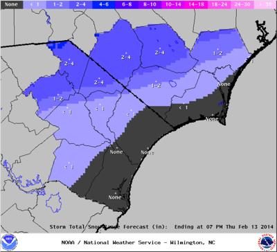 Revised Snow Accumulation Forecast