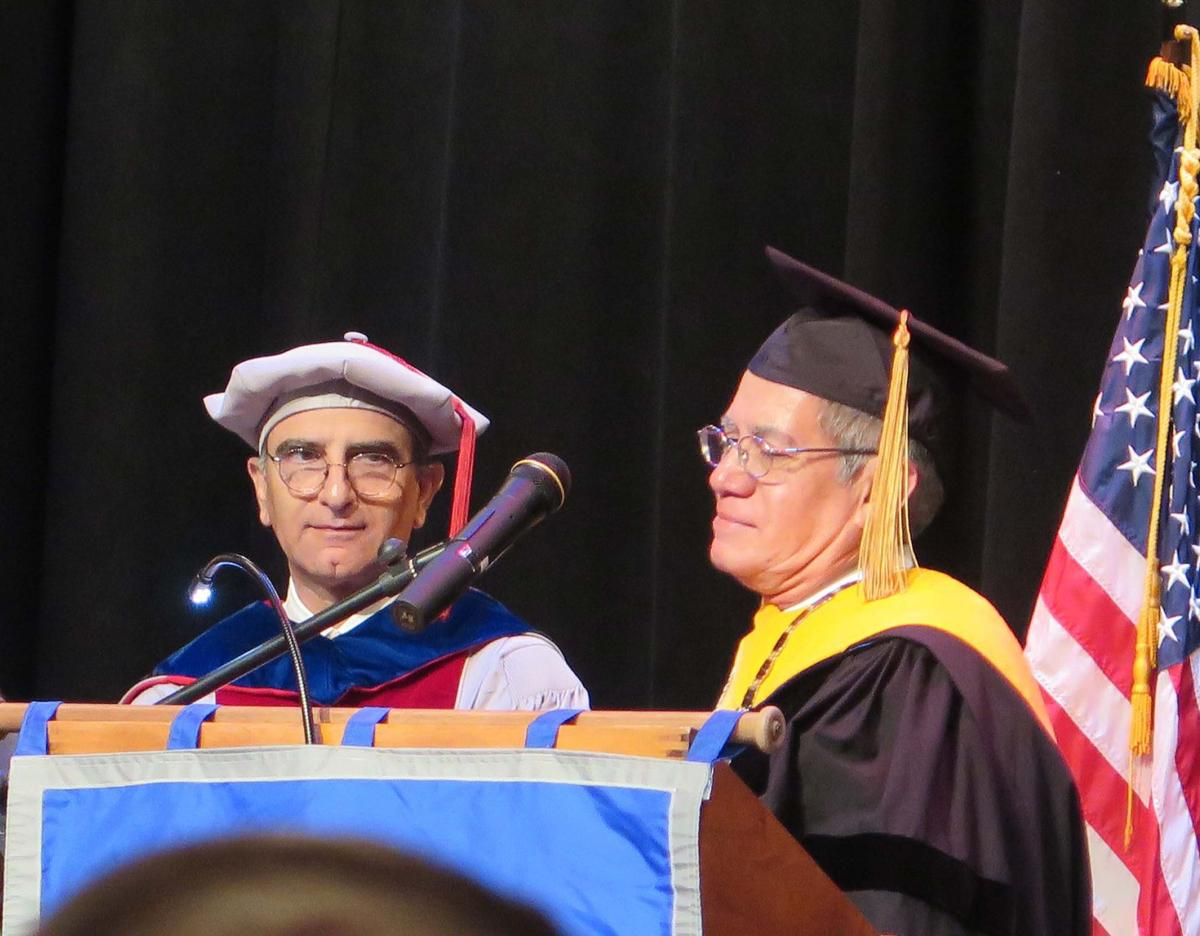 flores is installed as the third president of governor's school
