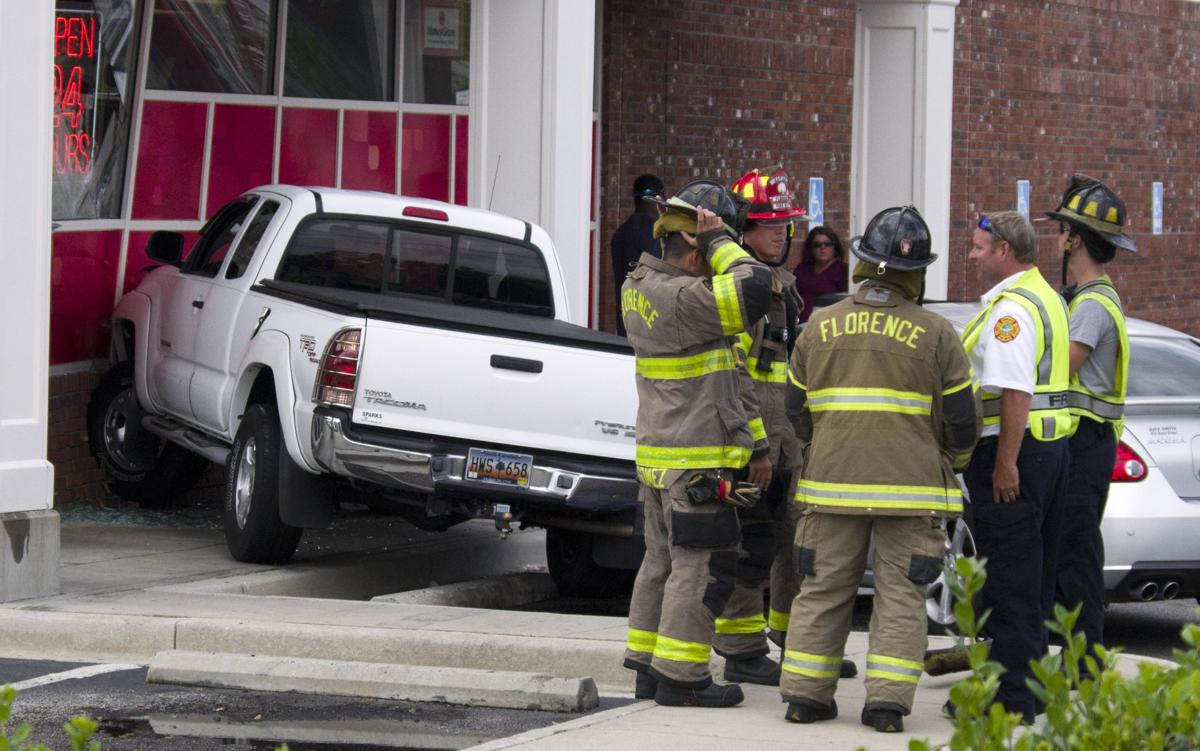 pickup truck runs into florence cvs local news