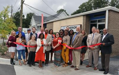 Spherion Staffing and Recruiting host ribbon cutting with chamber