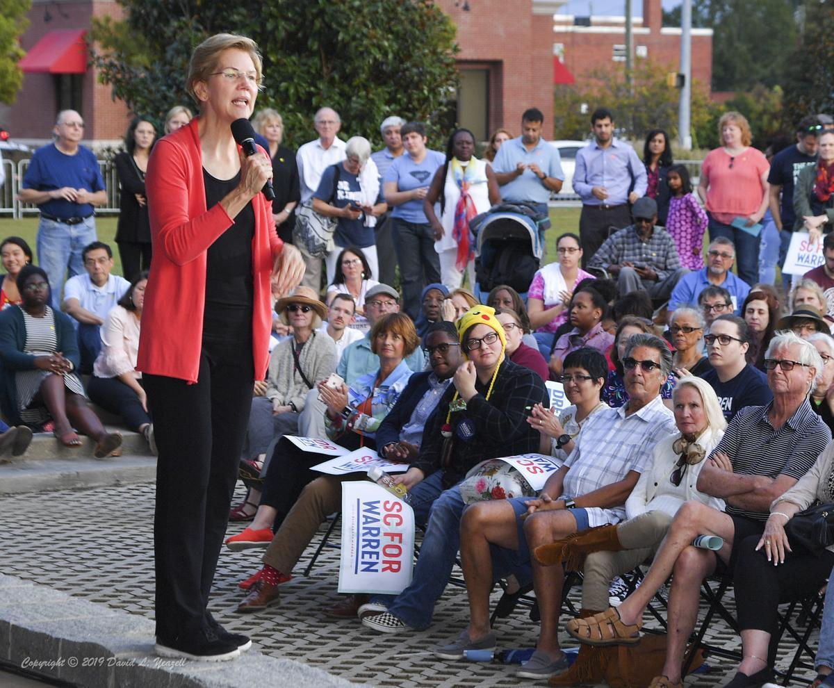 Elizabeth Warren campaigns in Florence, South Carolina