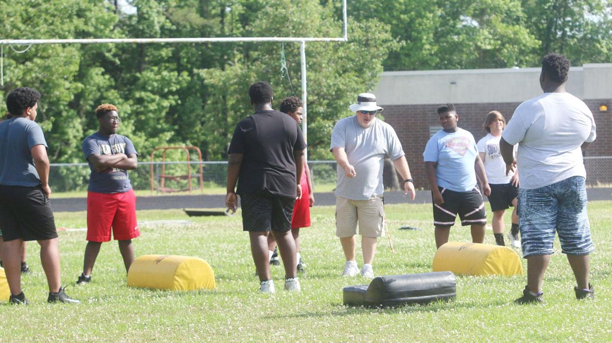 New Marion football coach pleased with spring practice participation