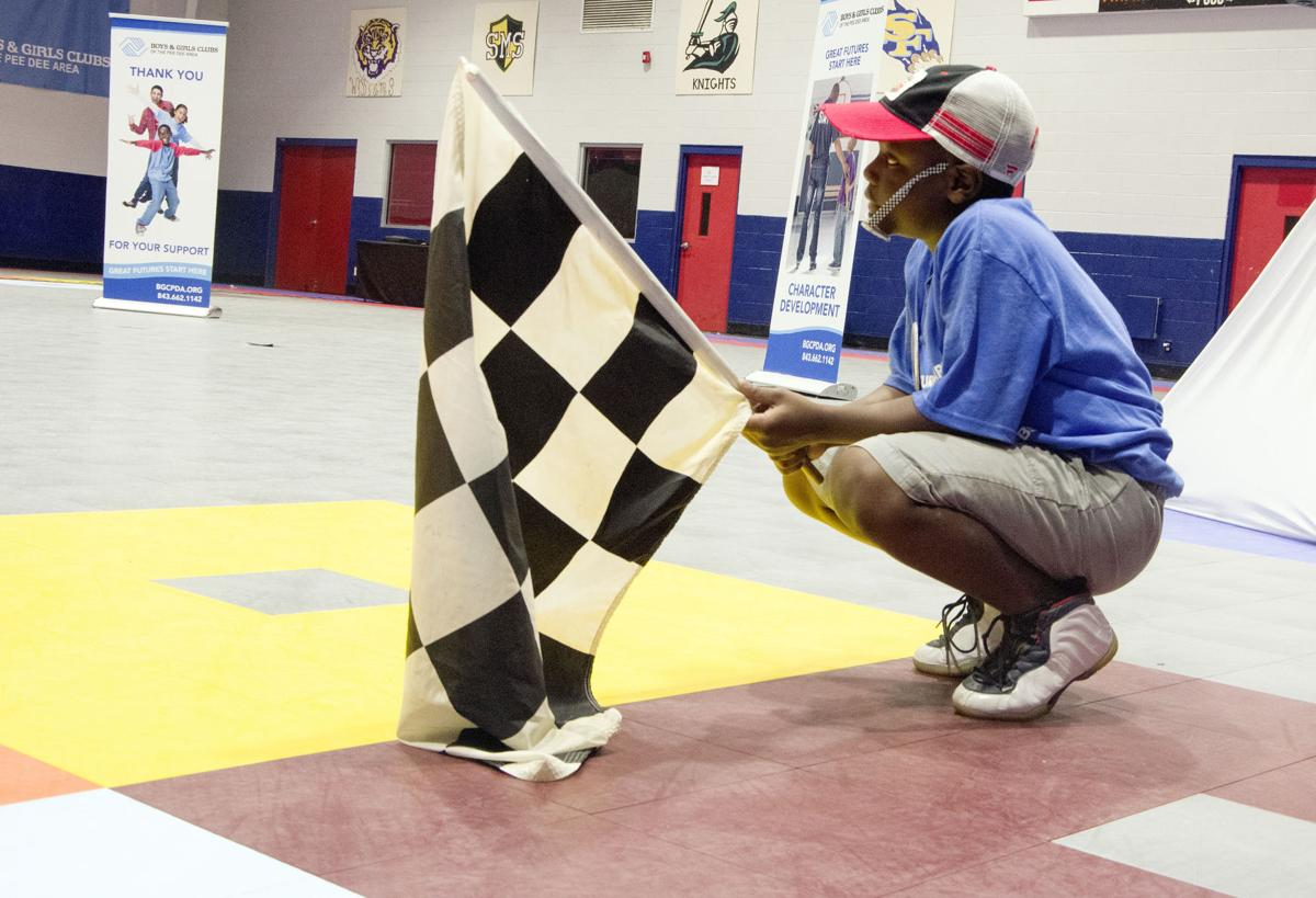 Bubba Wallace at the Boys and Girls Club