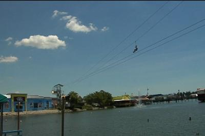 Zip Line Opens At Broadway The Beach