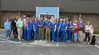 The Animal Hospital celebrates chamber membership with a ribbon cutting
