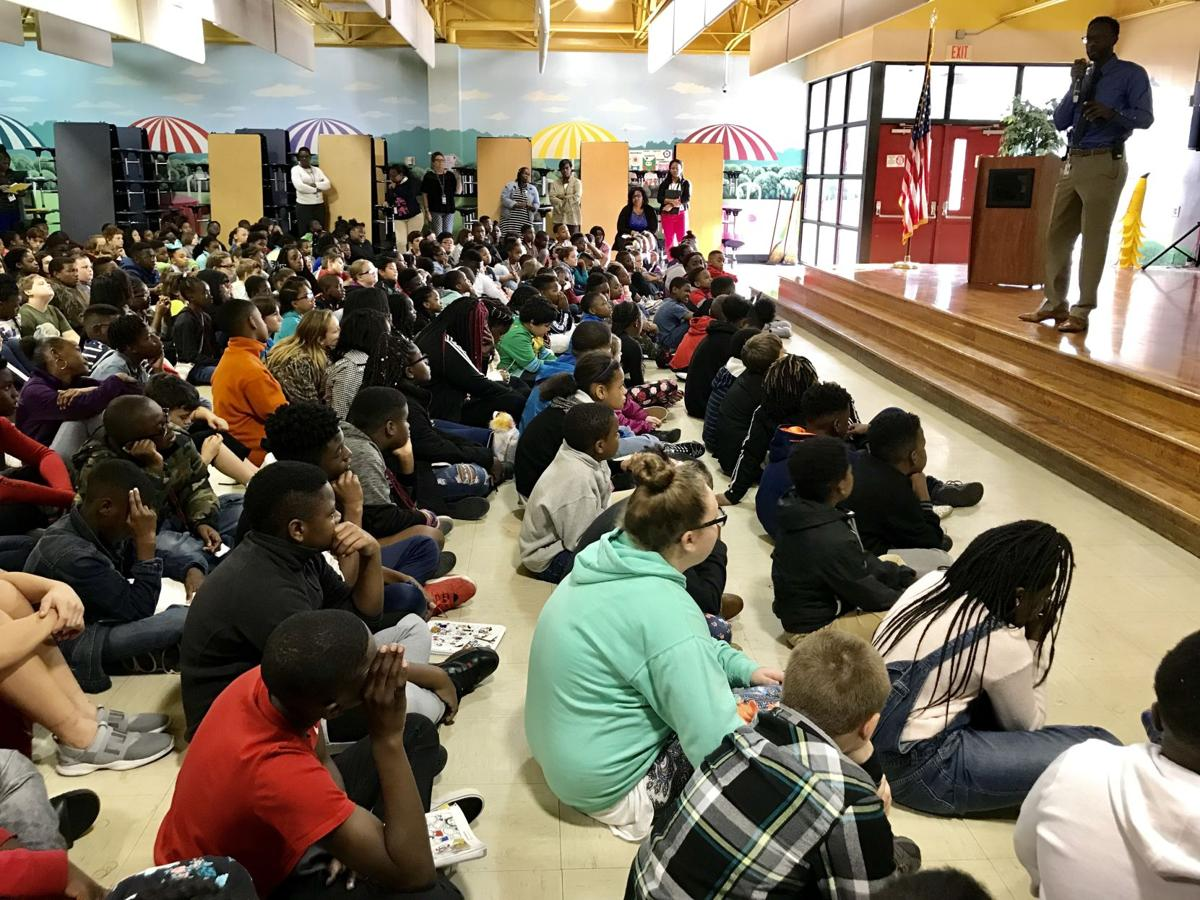 Elementary students accept reading challenge