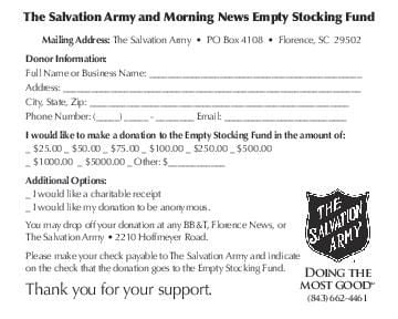 Download PDF Salvation Army Donation Form