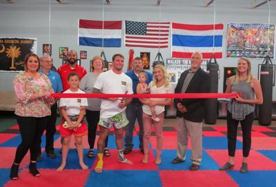 Carolina Kickboxing Academy ribbon cutting