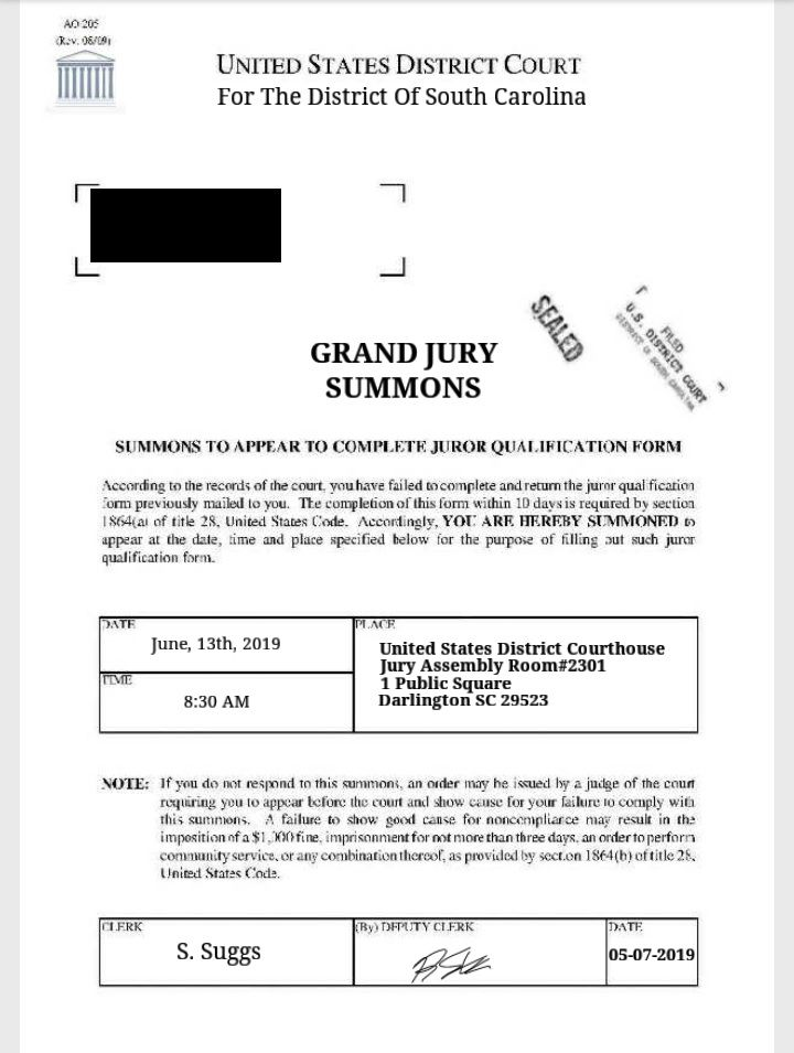 Darlington County Sheriff's Office warns of jury duty scam
