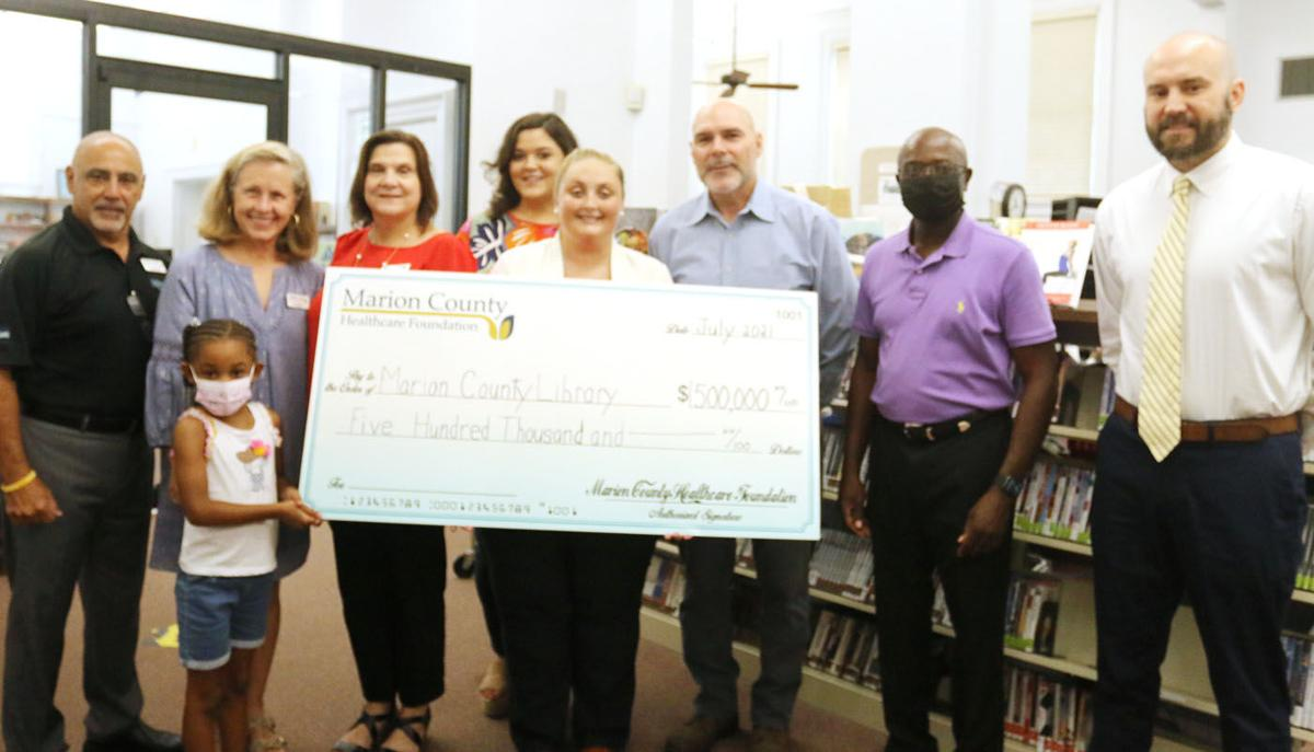 Marion County Healthcare Foundation donates $500,000 to library expansion