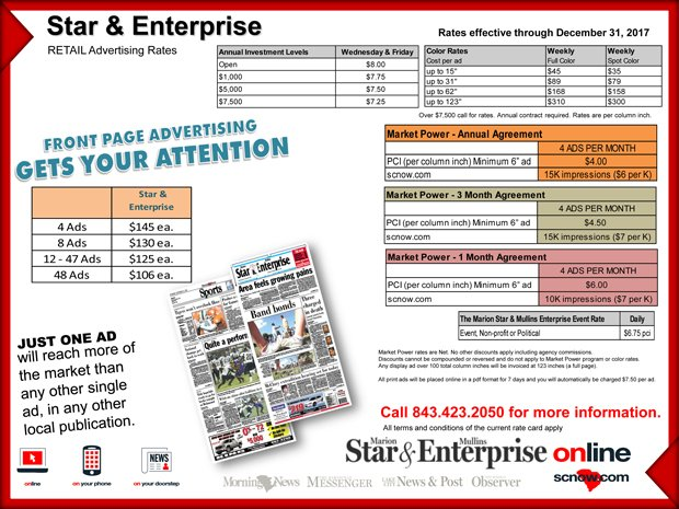 Star & Enterprise Advertising Rates
