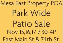 Mesa East Property POA