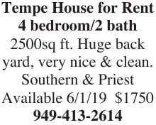 Tempe House for Rent