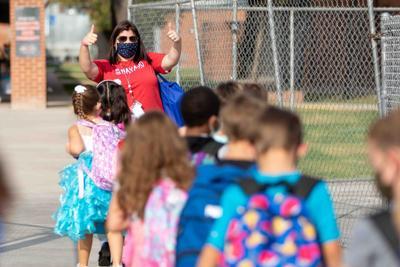 Kindergarten teacher Alison Bidar