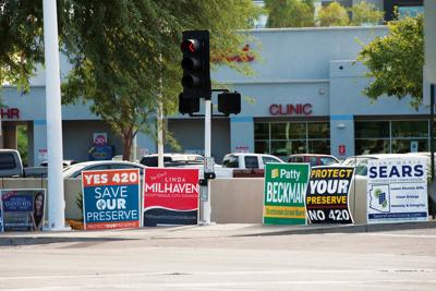 Campaign signs to Phoenix-based nonprofit Liberty Wildlife