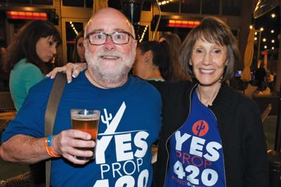 A large group of Proposition 420 supporters