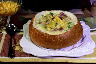 Ham Chowder Bread Bowl