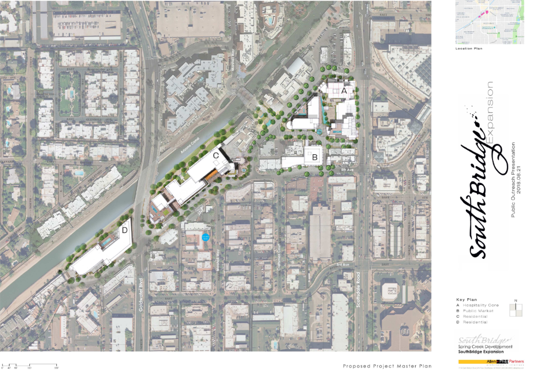 Southbridge 2 master plan map scottsdale mall