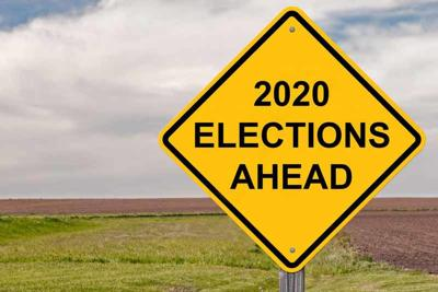 2020 Elections Ahead Sign