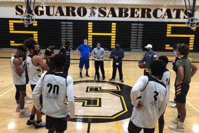 Saguaro boys' basketball coach Lucas Ramirez