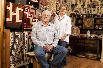 Territorial Indian Arts & Antiques owners Alston and Deborah Neal
